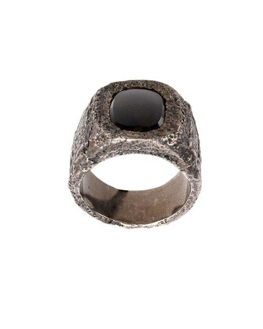 Tobias Wistisen | Metallic 'leather Stone' Ring for Men | Lyst