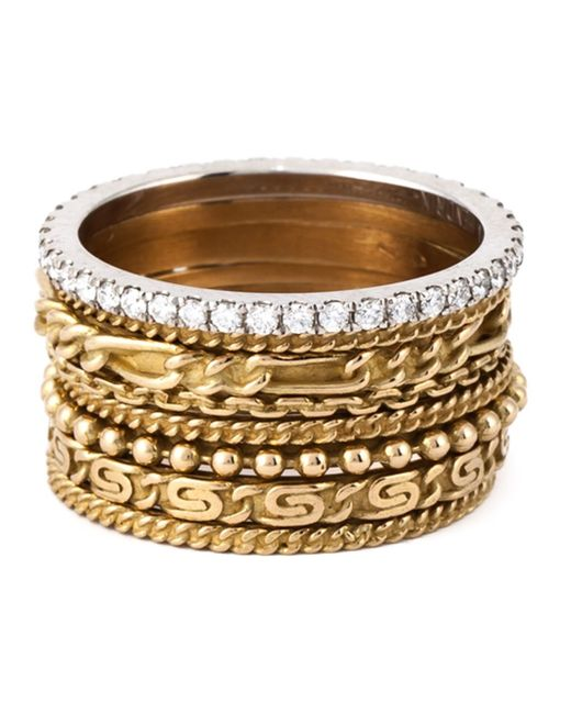 Wouters & Hendrix | Metallic Set Of 8 Stacking Rings | Lyst