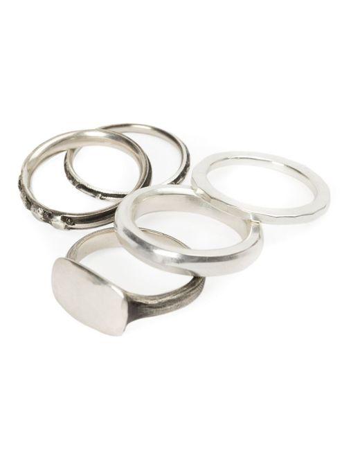 Werkstatt:münchen | Metallic Werkstatt:münchen Set Of 5 Rings | Lyst
