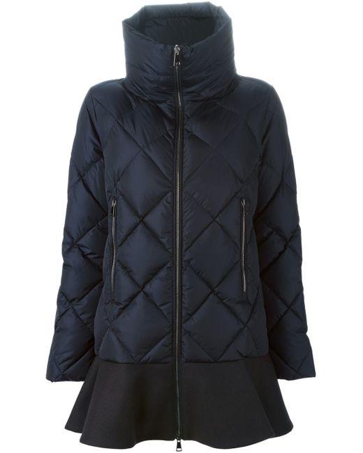 Moncler   Blue 'vouglans' Padded Coat   Lyst