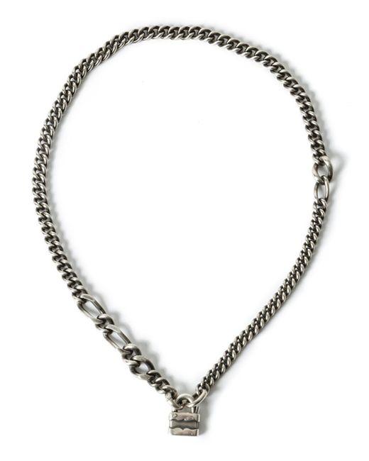 Werkstatt:münchen | Metallic Werkstatt:münchen Padlock Chain Necklace | Lyst