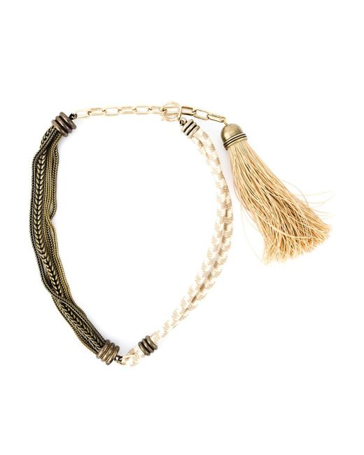 Lanvin | Metallic Rope And Chain Necklace | Lyst