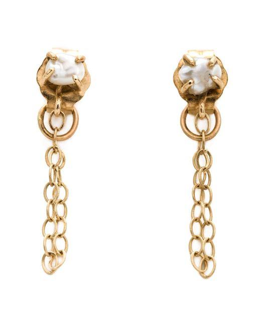 Melissa Joy Manning | Metallic 14kt Gold Pearl Chain Earrings | Lyst