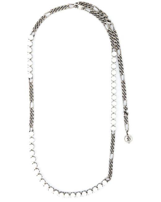 Lanvin | Metallic Pearl Sautoir Necklace | Lyst
