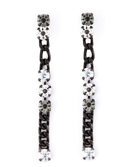 Lanvin | Black Drop Earrings | Lyst