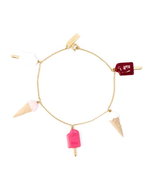 Saint Laurent | Metallic Ice Cream Charm Bracelet | Lyst