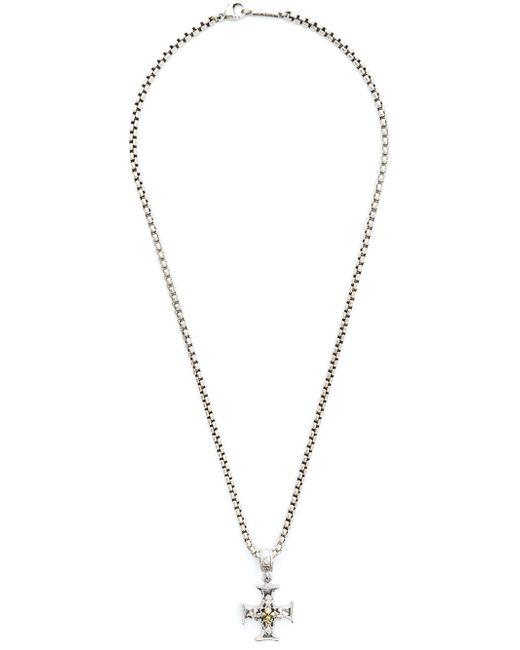 Roman Paul | Blue Cross Pendant Chain Necklace for Men | Lyst