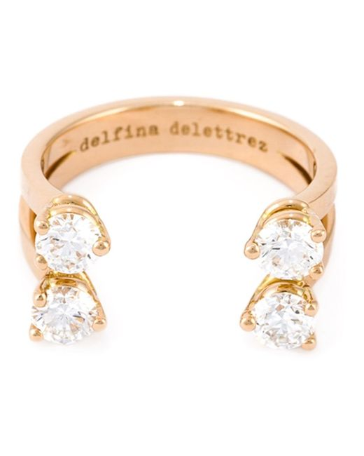 Delfina Delettrez | Metallic 'dots' Diamond Ring | Lyst