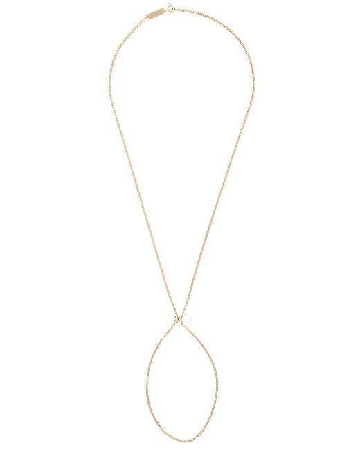 Maison Margiela | Metallic Earring Pendant Necklace | Lyst