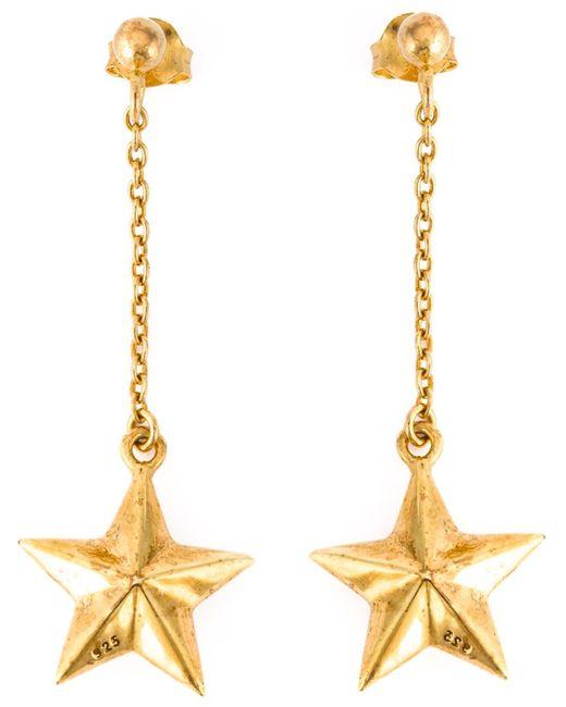 True Rocks   Orange Star Drop Earrings   Lyst