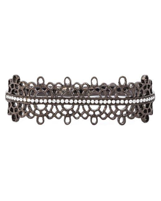 Joelle Jewellery | Metallic Joëlle Jewellery Diamond Detail Filigree Double Ring | Lyst