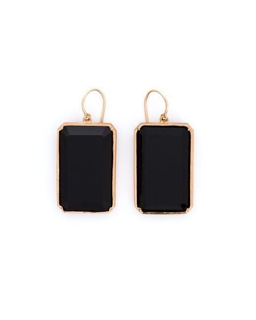 Irene Neuwirth | Black 18kt Rose Gold Onyx Drop Earrings | Lyst