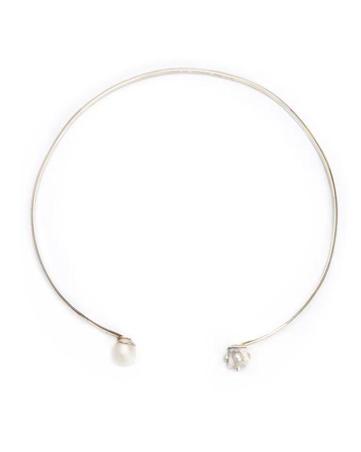 Nektar De Stagni | Metallic Pearl And Marble Detail Choker | Lyst