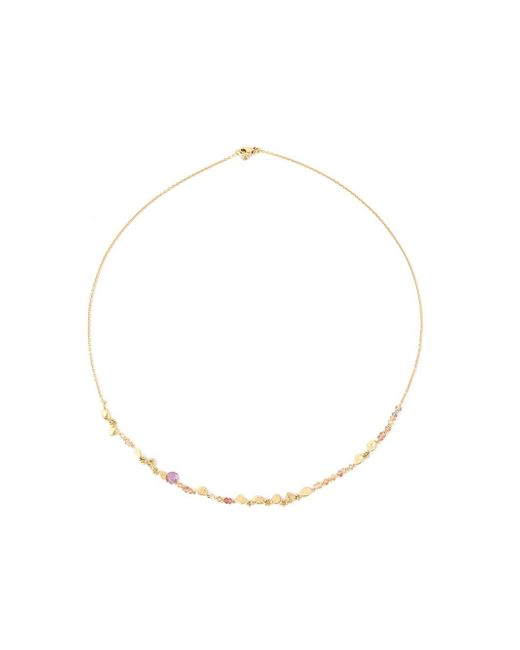 Natasha Collis | Metallic 'rock-fall Pin Peach Sapphire Story' Necklace | Lyst