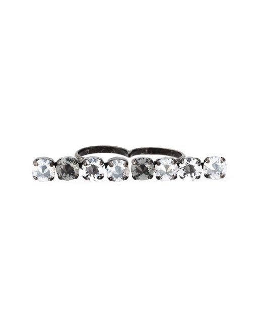 Lanvin | Metallic Double Ring | Lyst