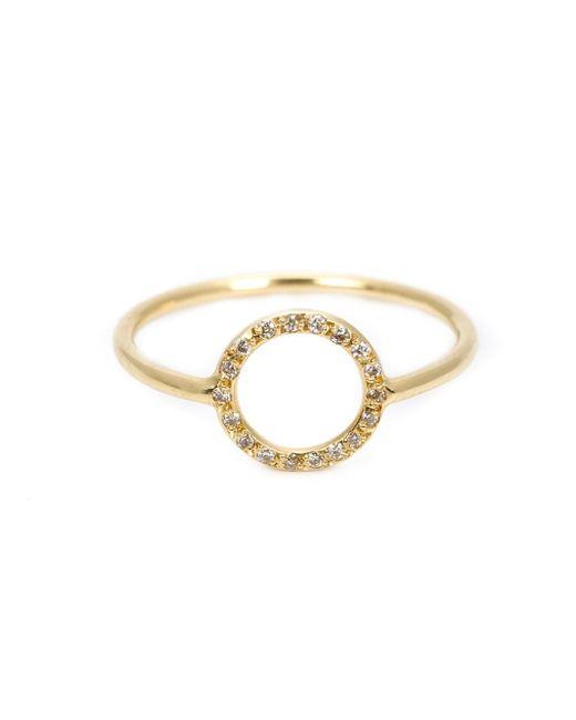 Ileana Makri | Metallic Circular Diamond Ring | Lyst
