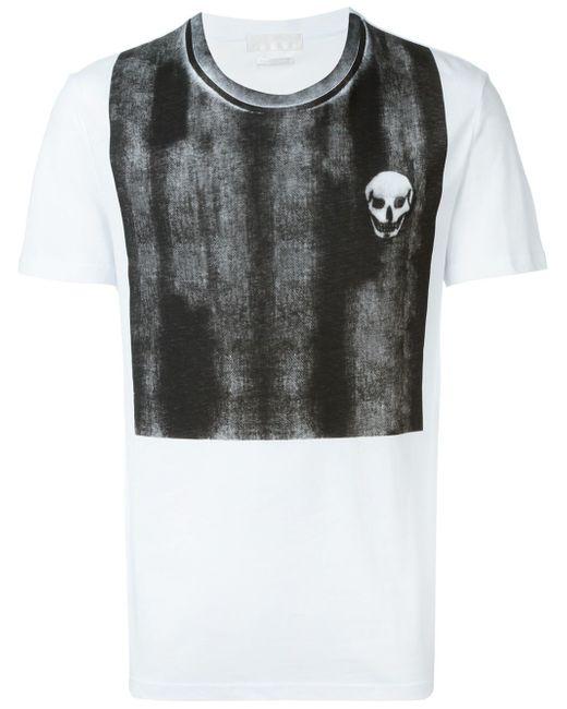 Alexander McQueen | White Faded Panel T-shirt for Men | Lyst