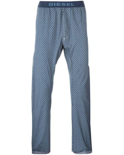 DIESEL   Blue Rhombus Print Pyjama Trousers for Men   Lyst