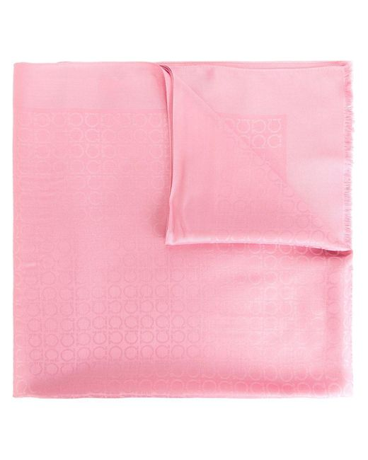 Ferragamo | Pink Gancio Patterned Scarf | Lyst