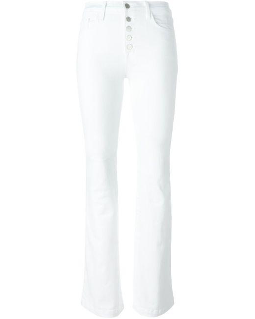 J Brand | White Flared Jeans | Lyst