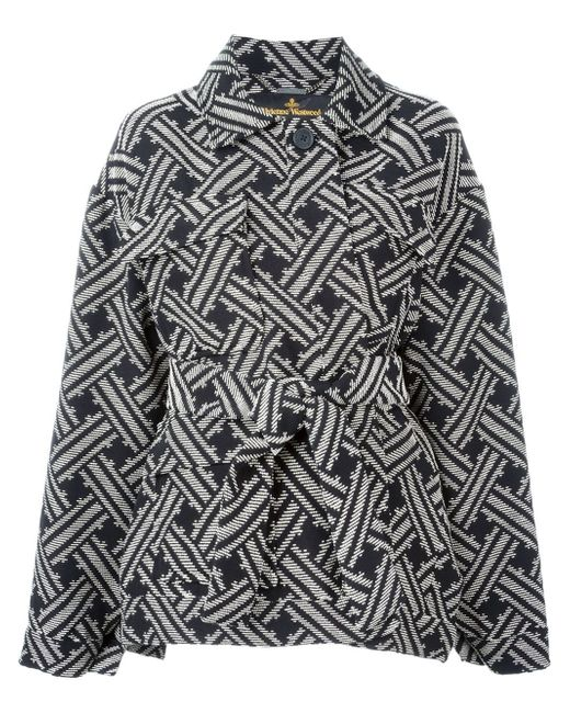 Vivienne Westwood Anglomania   Black Belted Coat   Lyst