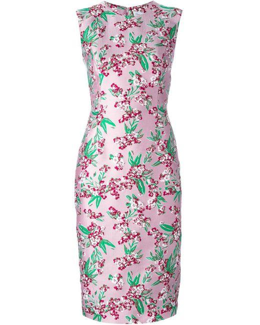 Jonathan Saunders | Pink Chilton Embellished Silk Mini Dress | Lyst
