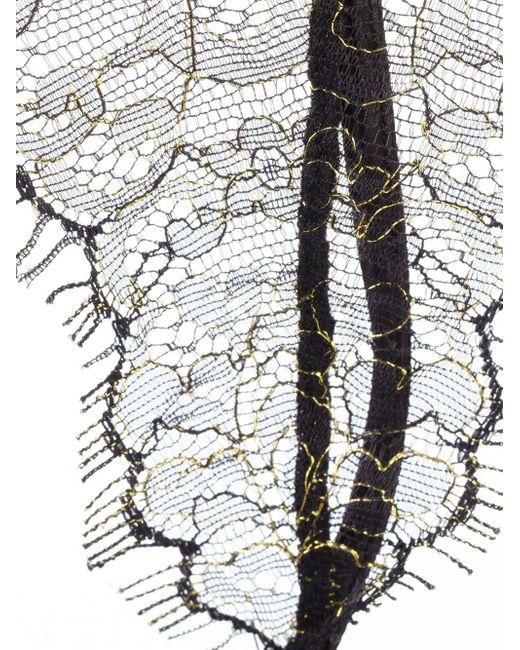 Maison close 39 jardin imperial 39 garter belt in black lyst for Jardin imperial