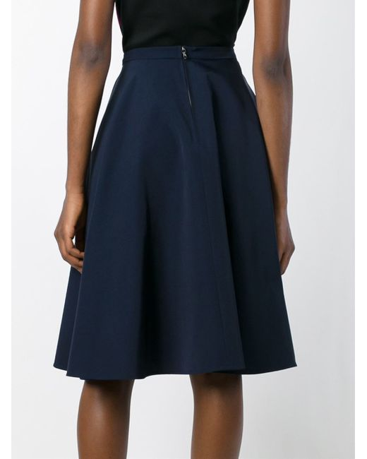 lanvin classic a line skirt in blue lyst