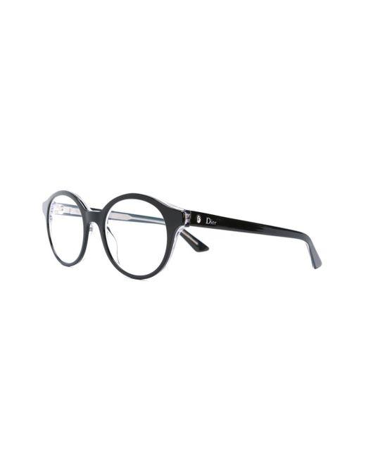 Dior Black Frame Glasses : Dior Round Frame Glasses in Black Lyst