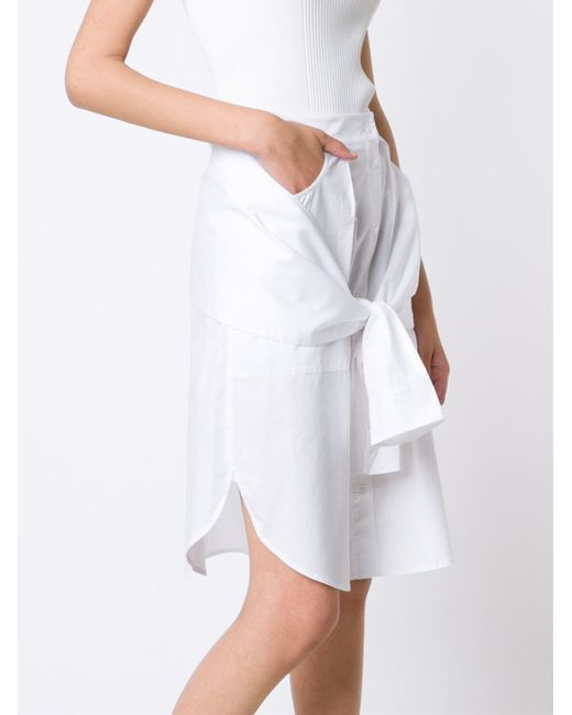 t by wang shirt style a line skirt in white lyst