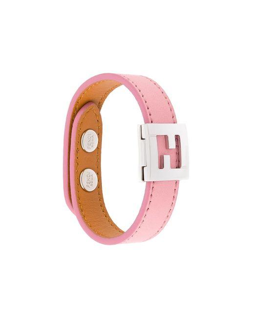 Fendi   Pink Crayons Reversible Bracelet   Lyst