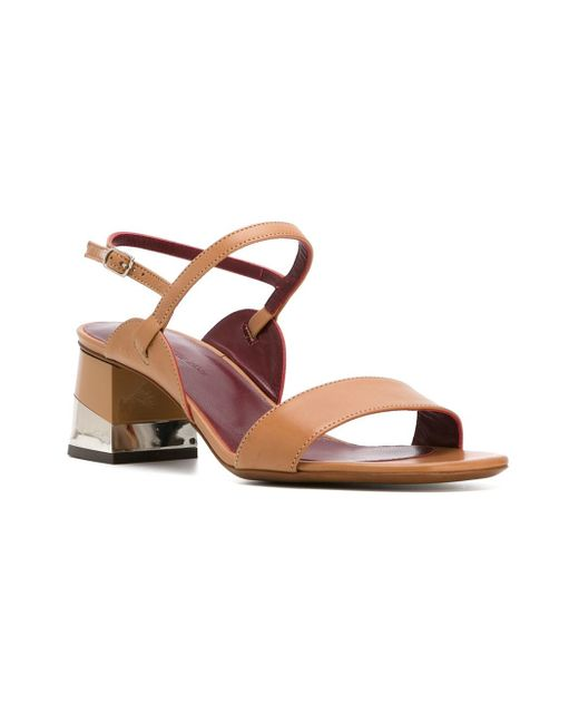 l 39 autre chose sling back sandals in brown lyst. Black Bedroom Furniture Sets. Home Design Ideas
