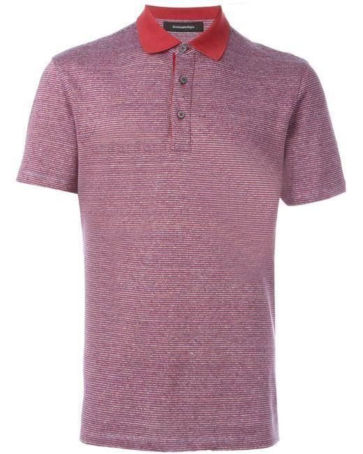 Ermenegildo zegna classic polo shirt in pink for men lyst for Zegna polo shirts sale