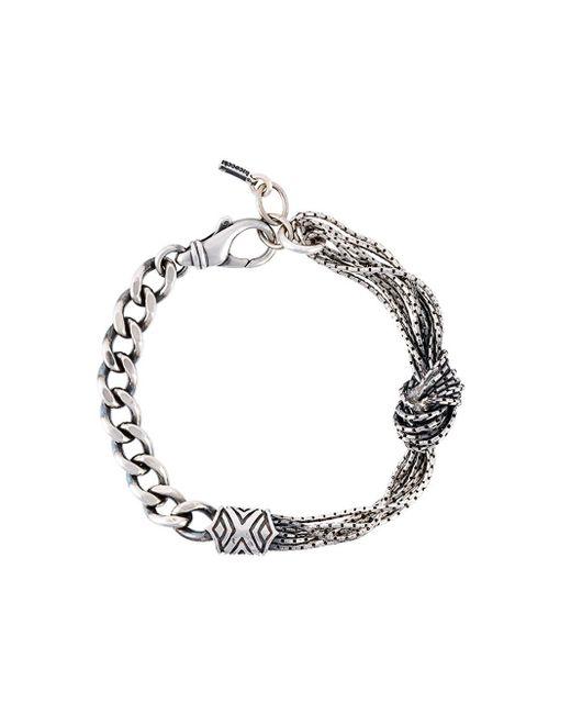 Emanuele Bicocchi | Black Wire Bracelet for Men | Lyst