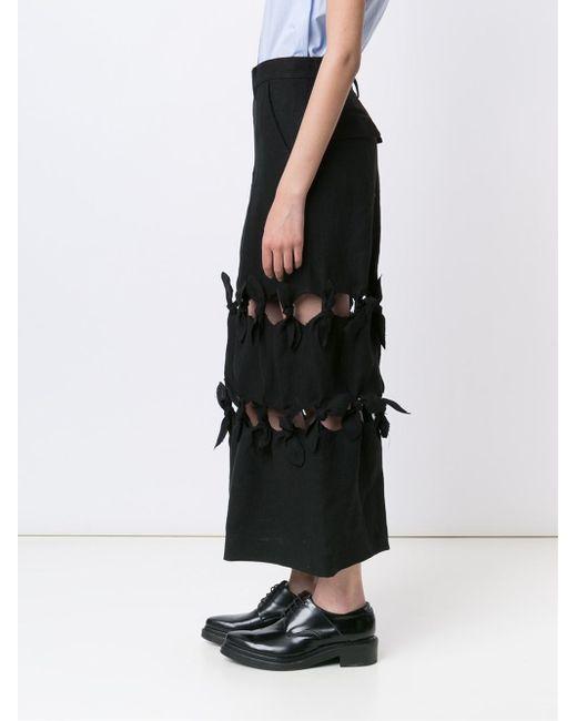 facetasm cut out maxi skirt in black lyst