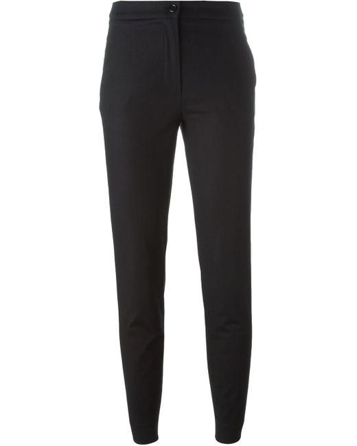 Moschino | Black Wide-leg Crepe Pants | Lyst
