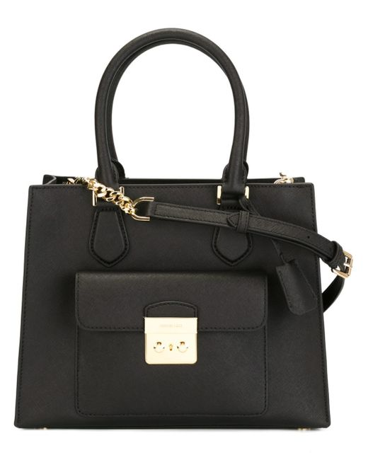 michael michael kors bridgette tote in black lyst. Black Bedroom Furniture Sets. Home Design Ideas