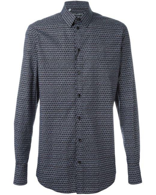 Dolce & Gabbana | Blue Dot-pattern Jacquard Shirt for Men | Lyst