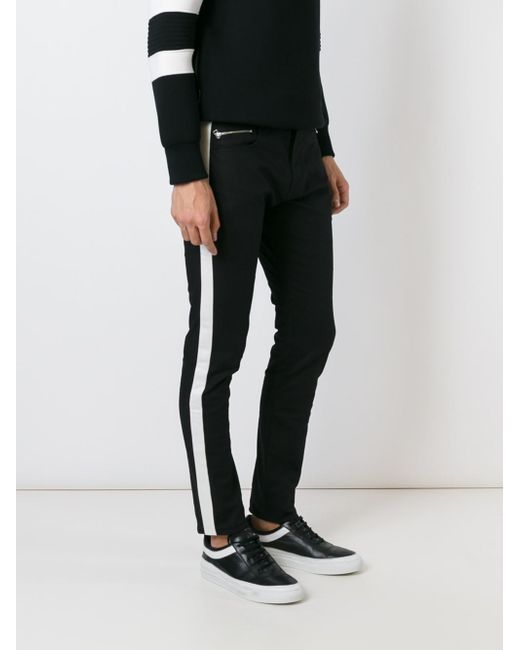 Unconditional Side Stripe Skinny Jeans In Black For Men Lyst
