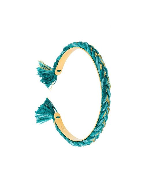 Aurelie Bidermann | Green 'copacabana' Thin Bangle | Lyst