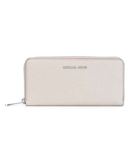 MICHAEL Michael Kors | Gray 'jet Set Travel' Continental Wallet | Lyst