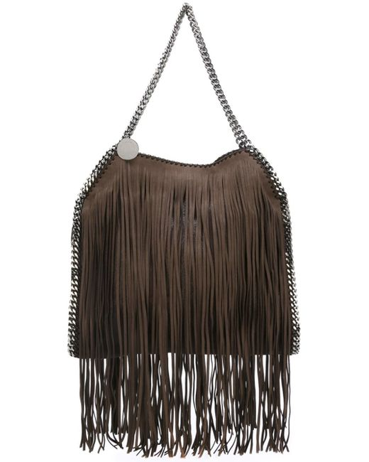 Stella McCartney | Brown Canvas Shoulder Bag | Lyst