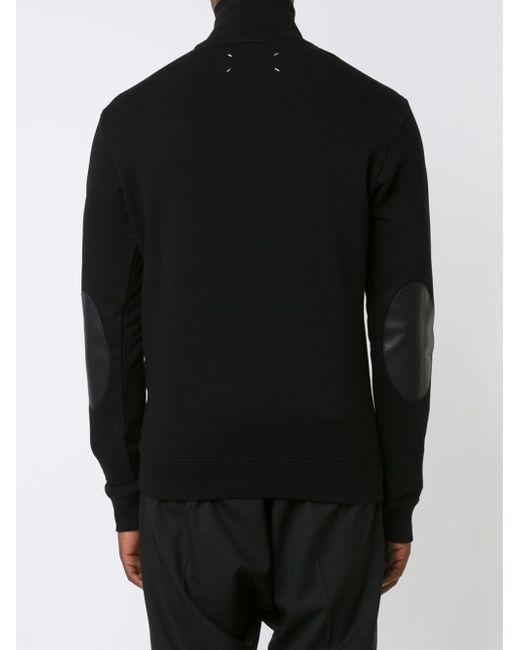 Maison margiela Half Zip Pullover Sweatshirt in Black for Men | Lyst