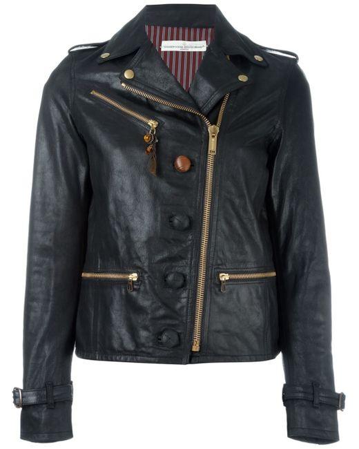 golden goose deluxe brand biker jacket in black lyst. Black Bedroom Furniture Sets. Home Design Ideas