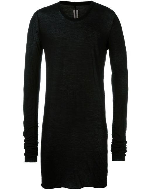 Rick Owens | Black Long Length T-shirt for Men | Lyst