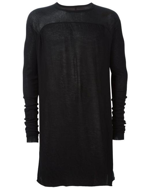 Rick Owens | Black Longsleeved T-shirt for Men | Lyst