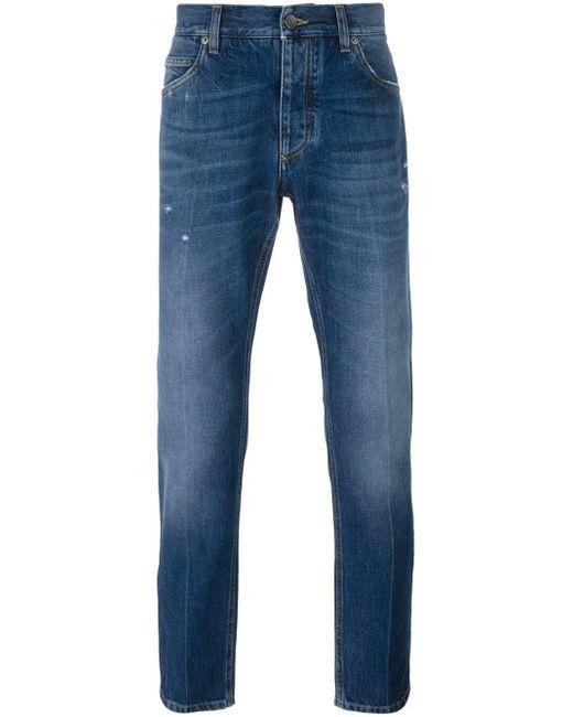 Dolce & Gabbana | Blue Straight Leg Jeans for Men | Lyst