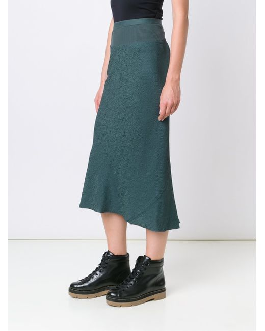 rick owens pleated back skirt in blue lyst