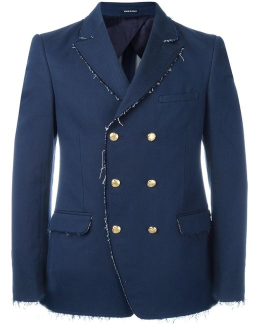 Alexander McQueen | Blue Double Breasted Jacket for Men | Lyst