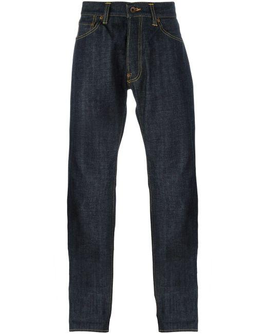 Edwin   Blue Edwin Ed47 Japanese Rainbow Selvedge Straight Jeans for Men   Lyst